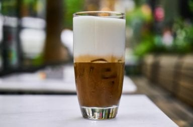Kaffee mit Stickstoff