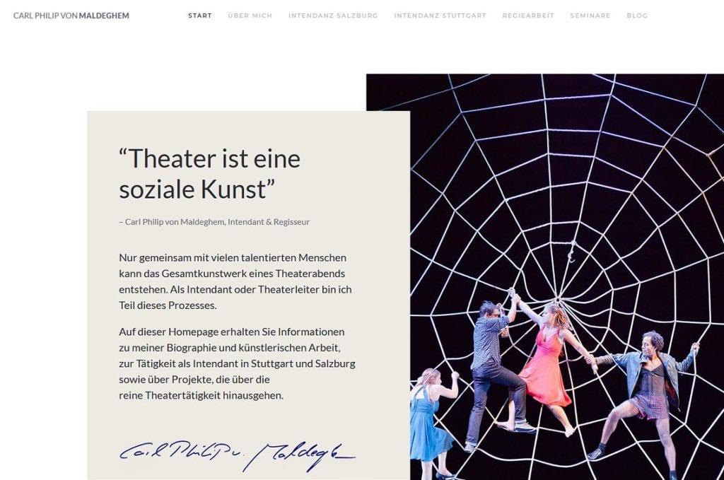 Maldeghem Homepage (Screenshot)
